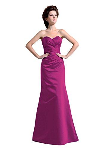 Bridal_Mall -  Vestito  - linea ad a - Senza maniche  - Donna Dunkellila 44