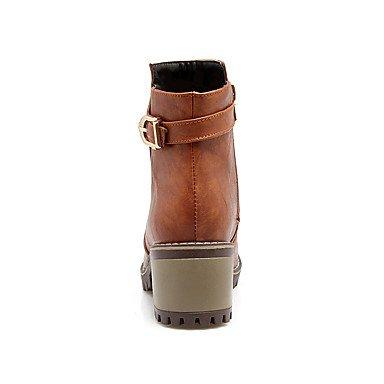 de moda Desy hebilla zapatos para botas botines cremallera talón polipiel botas las Casual botas tobillo vestido Chunky mujeres redondas toe invierno botas otoño F00EwqRr