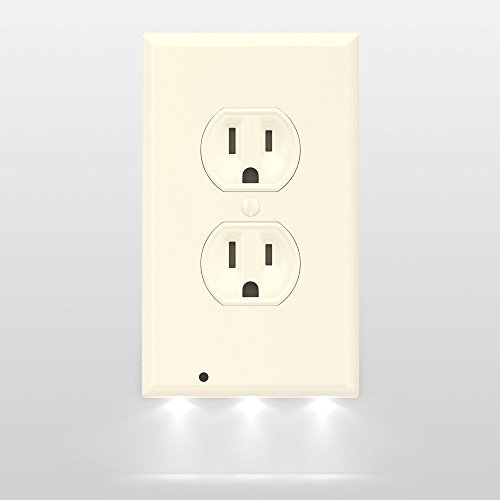 Outlet cover night light moar stuff you dont need it but you snappower guidelight outlet wall plate with led night lights no mozeypictures Gallery