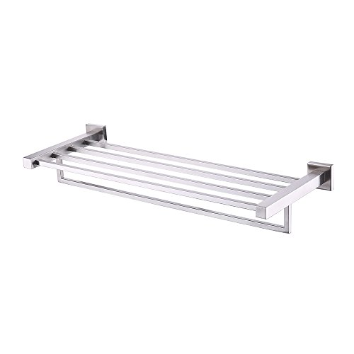 (Kes Bath Towel Shelf, with Towel Bar Rustproof Stainless Steel 24 Inch Wall Mount Brushed, A21010-2)