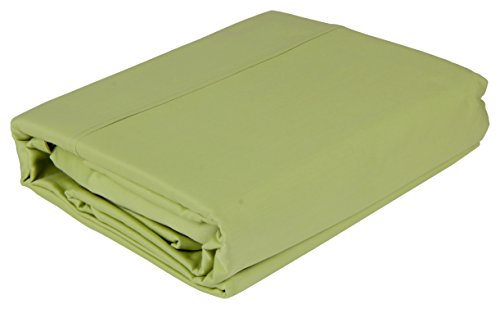 400 Thread Count 100 % Cotton Sheet Set, Luxury Bed Linen, Home & Hotel Collection, Natural Soft & Silky Sateen Weave Sheets and Pillowcases, upto 15 Inch Deep Pocket, Bestseller - (King, Sage Green)