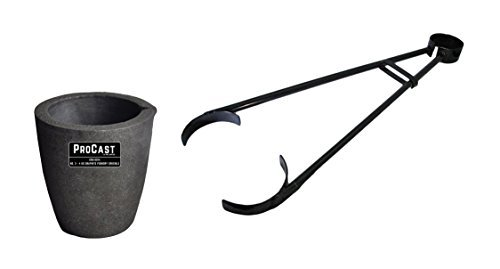 #3-4 Kg Clay Graphite Foundry Crucible Kit w/ 26