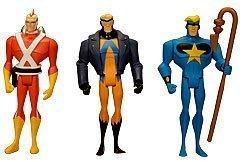 DC Universe Exclusive Justice League Unlimited Fan Collection Action Figure 3Pack Adam Strange, Animal Man Star ()