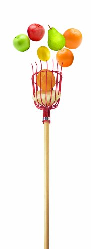 Bond 9164 Wood Handle Fruit Harvester With Metal Basket & 8-Foot Wood - Foam Coated 8'