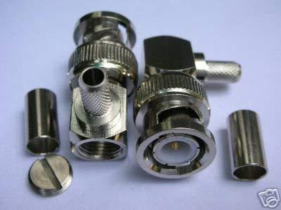 Gimax 100x RA BNC Male Plug Crimp RG58 Teflon Plenum BN2