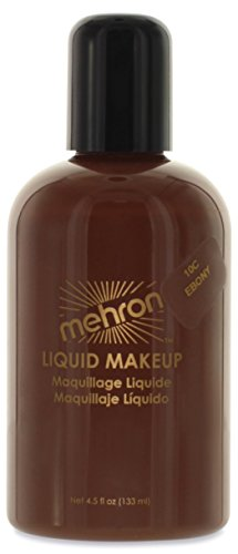 Mehron Makeup Liquid Face and Body Paint (4.5 oz) (EBONY)