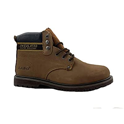 LABO Men's Genuine Leather Work Boot513 BROWN-10: Toys & Games