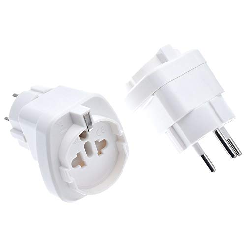 Travel Adapter Israel to US/Italy/Brazil/Schuko Universal Electric Plug Adapter Converter pluggable Embedded 250V 10A