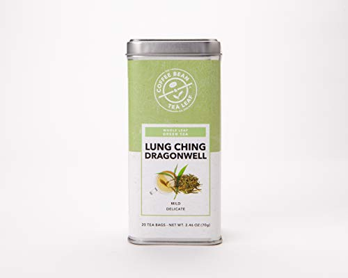 The Coffee Bean & Tea Leaf, Tea, Hand-Picked Lung Ching Dragonwell, 20 Count Tin ()