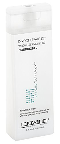 - GIOVANNI COSMETICS - Eco Chic Direct Leave-In Conditioner- Weightless Moisture For All Hair Types (8.5 Ounce)
