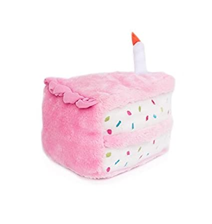 Buy ZippyPaws Birthday Cake Plush Toy With Squeaker For Dogs Pink Online At Low Prices In India