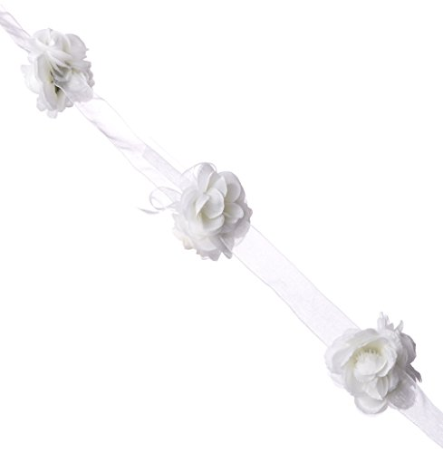 (Wilton 1006-287 Organza Rose Garland, 12-Feet, Small, White)