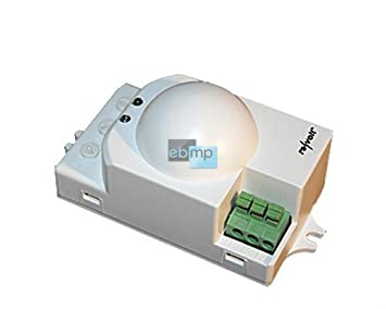 Detector de movimiento de 360 grados Hightech con microondas de radar IP20 con sensor crepuscular |