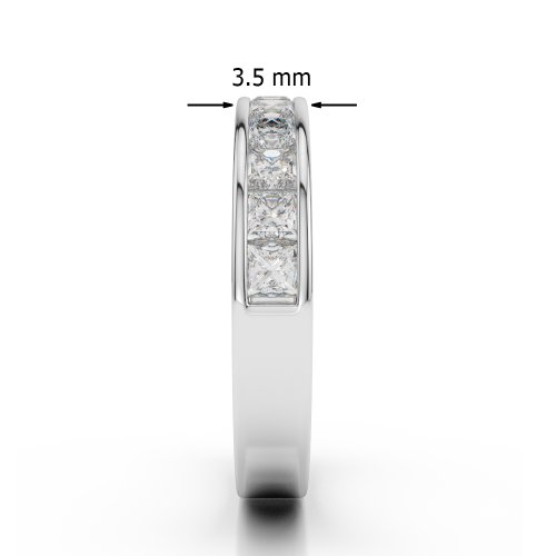 Or blanc 18 carats 1 CT G-H/VS Certifié Coupe ronde Émeraude et diamants Agdr-1137