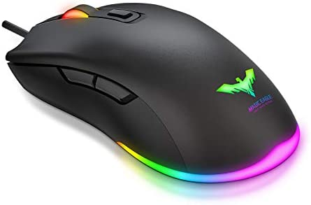 Havit RGB Gaming Mouse Wired PC Gaming Mice with 7 Color Backlight, 6 Buttons, Up to 6400 D P I Computer USB Mouses for Desktop Laptop Gamer & Work