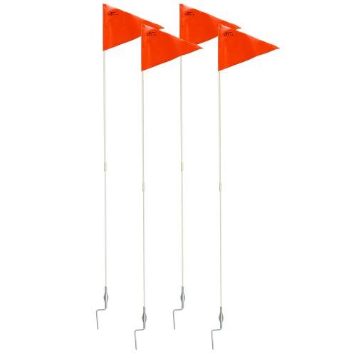 Agora Portable Fiberglass Corner Flags with Spring Base - Set of 4