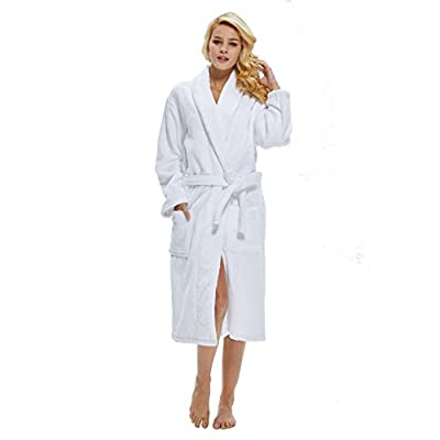 Beryris Luxury Bathrobe for Women - Women's Terry Cloth Robe in Bamboo Viscose,,Thick Material,Towel Terry Fabric