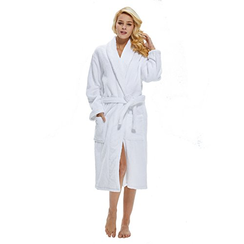 41306c51c0 Beryris Luxury Bathrobe for Women - Women s Terry Cloth Robe in Bamboo  Viscose