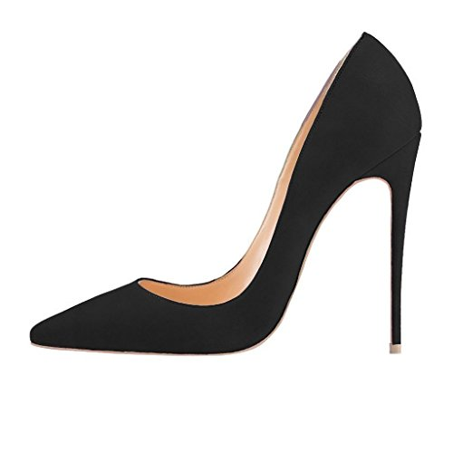 75330f5234b Finders | FSJ Women Sexy Suede Pointed Toe Pumps 12 cm High Heels ...