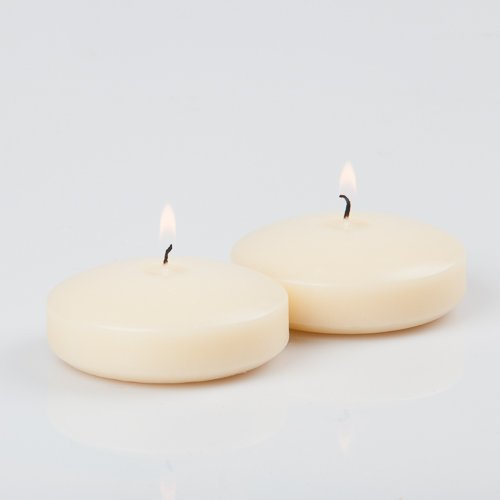 Richland 3'' Floating Candles Ivory Unscented Set of 96 by Richland