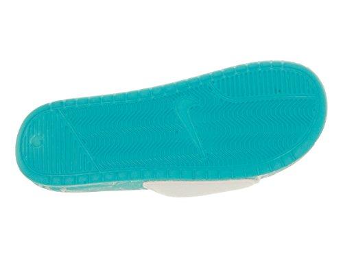 Nike Benassi Jdi Pool Pack Qs, Zapatillas de Deporte Unisex Adulto Blanco / Turquesa (White / White-Clearwater)