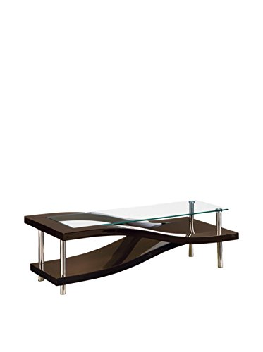 (Global Furniture Wenge Occasional Coffee Table with Metal Legs)