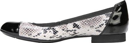 Snake Leder Cap Black Toe Frauen White Naturalizer Gleit Sandalen PgqF418