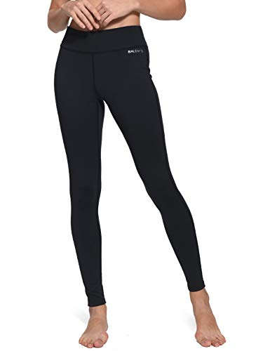 Baleaf Women's Ankle Legging Black Inner Pocket Size M
