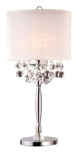 Ore International K-5110T Crystal Table Lamp, 14.0