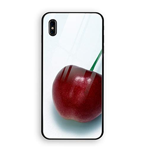 Cherry Food Berry Twig Tasty Case Compatible iPhone X, Shock-Absorption Bumper Cover, Anti-Scratch Clear Tempered Glass ()