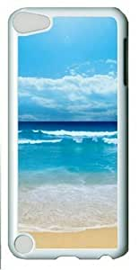 Blue Beach Theme Ipod Touch 5 Hard Shell with Transparent Edges Cover Case by Lilyshouse