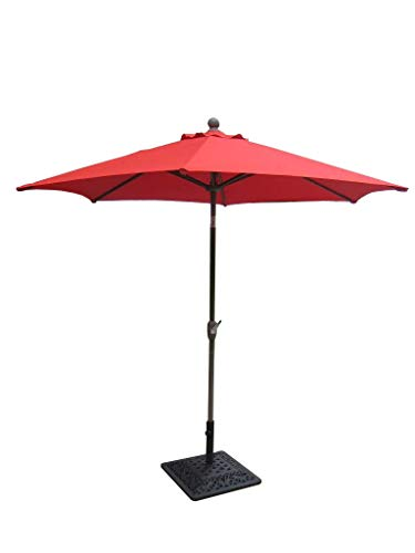 8 Outdoor Garden Patio Aluminum Crank Tilt Umbrella RED CBM1290 Review
