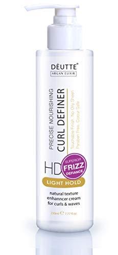 DeUtte Argan Curl Definer Cream Conditioner for Curly Hair & Wavy Styling - 5 Oz (Best Argan Oil For Hair Uk)
