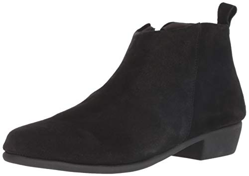 Aerosoles Women's Step IT UP Ankle Boot, Black Suede, 9 M US