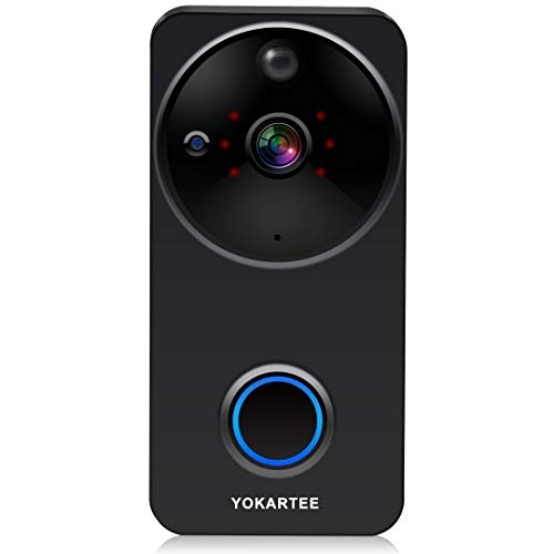Smart Wireless Video Doorbell Camera 1080P WiFi Security Door Camera with Chime and Battery,16GB Micro SD Card, PIR Motion Detection, Night Vision, Real-time Video And Two-way Talk, Alexa Compatible