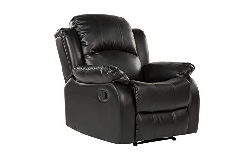 Bonded Leather Recliner Chair – Overstuffed