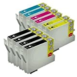 10 Pack of Epson Compatible printing Ink toner Cartridges: 4 Black for TO691/TO681 and 2 Cyan for TO692/TO682, 2 Magenta for TO693/TO683, 2 Yellow for TO694/TO684 For Durabrite ultra Epson Stylus CX and More, Office Central