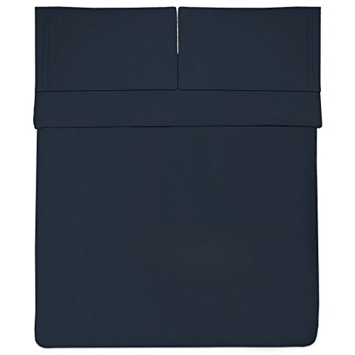 Mayfair Linen Hotel Collection 100% Egyptian Cotton Sateen- Genuine 800TC Sheet Set King - Navy