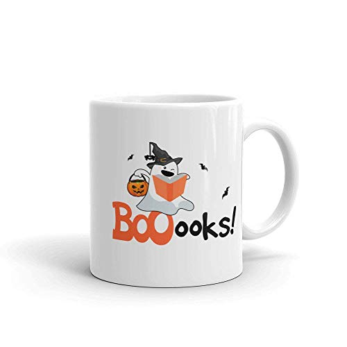 ymaotrade Ghost Reading Book Mug Coffee Tea Cup Great Gift for Your Son Daughters Mother Father Halloween Costume Mug Coffee Tea Cup]()