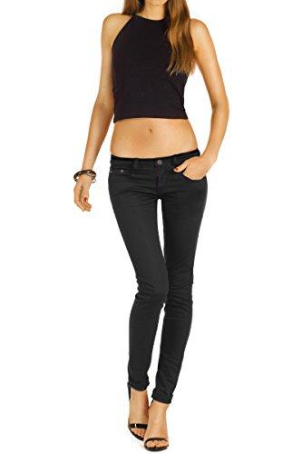Bestyledberlin de mujer pantalones j71e tubo jeans Negro jeans rErqWvgw