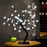 Dreamyth 0.52m 48 LED Plum Blossom Desk Top Bonsai Tree Light (White)