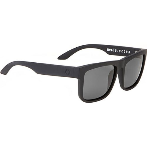Spy Discord Sunglasses Soft Matte Black With HD Plus Grey Green Lens (Spy Optic Discord)