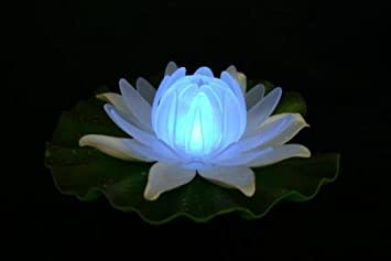Battery operated colour changing floating water lilly garden battery operated colour changing floating water lilly garden lights pond lights fairy lights mozeypictures Images