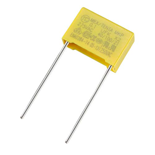 uxcell Polypropylene Film Safety Capacitors 0.1uF 275VAC X2 MKP 100 Pcs (Metal Polypropylene Capacitors)