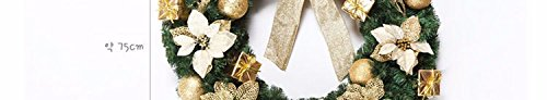 Christmas Garland for Stairs fireplaces Christmas Garland Decoration Xmas Festive Wreath Garland with Christmas wreath,60cm