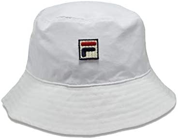 05898ada5 Fila Mens Heritage Nylon Bucket Hat (White): Amazon.com