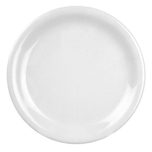 Green Narrow Rim Plate (Excellanté White Melamine Collection 10-1/2-Inch Narrow Rim Round Plate, White, 12-Piece)