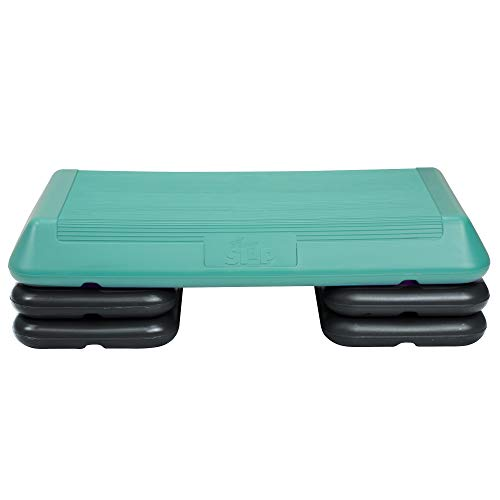 The Step Original Circuit Size Aerobic Platform with Grey Nonslip Platform and Four Original Black Risers
