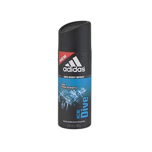 Price comparison product image Adidas Ice Dive Deodorant 5 Fl Oz / 150ml Spray Developed with Athletes & Cool Tech Fresh 24 Hour Boost