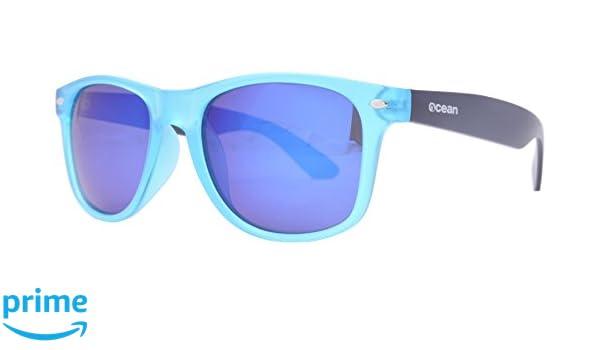 Ocean Sunglasses Beach Wayfarer - Gafas de Sol polarizadas - Montura : Azul Claro/Marrón Mate - Lentes : Azul Espejo (18202.34): Amazon.es: Deportes y aire ...